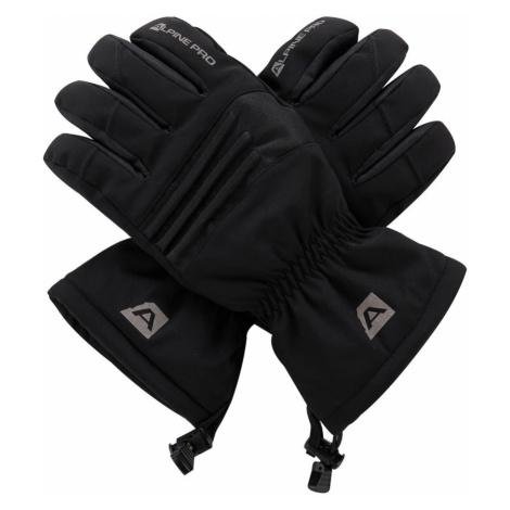 ALPINE PRO KAROG Unisex lyžařské rukavice UGLM013990 černá
