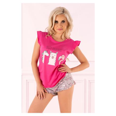Dámské pyžamo Lovely Unicorn - LivCo Corsetti Růžová Livia Corsetti