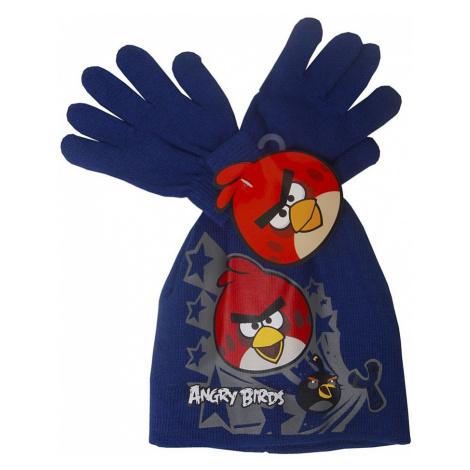 Angry birds tmavě modrý zimní set