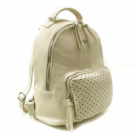 Krémový dámský stylový praktický batoh Laurencia Mahel