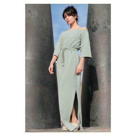Světle zelené šaty B146