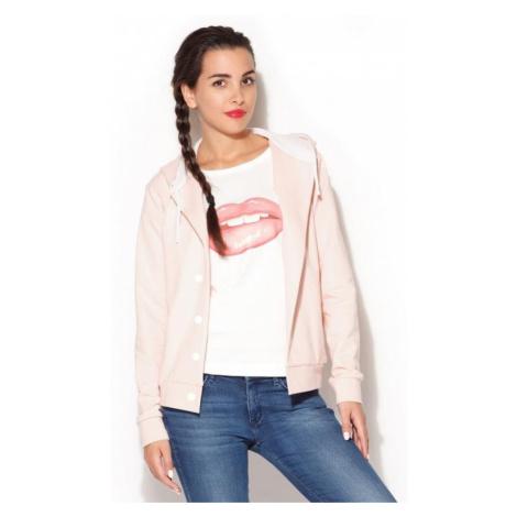 Dámská mikina Katrus K190 růžová | růžová