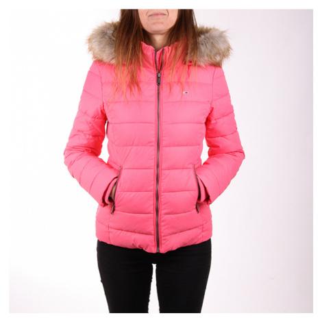 Tommy Jeans dámská růžová bunda Essential Tommy Hilfiger