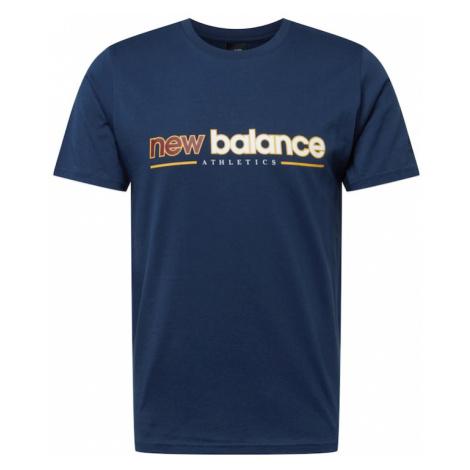 New balance Tričko noční modrá / bílá / oranžová / červená třešeň