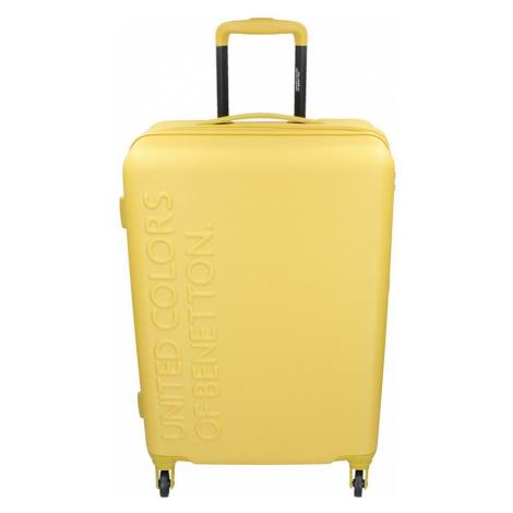 Cestovní kufr United Colors of Benetton Aura L - žlutá 95l