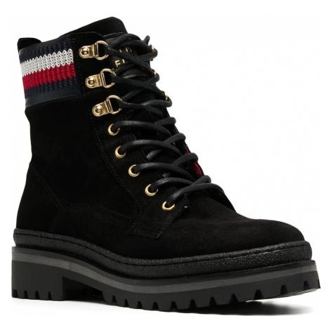 Tommy Hilfiger dámské černé šněrovací boty Rugged