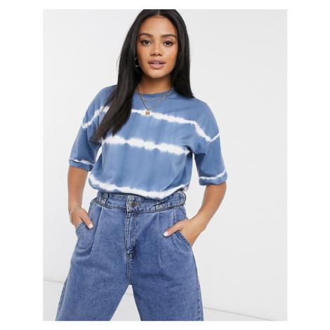 ASOS DESIGN oversized t-shirt in tie dye stripe in blue