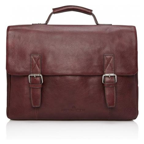 "Castelijn & Beerens kožená taška na notebook Bravo 639484 15,6"" lilek Castelijn & Beerens"
