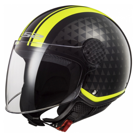 Moto Přilba Ls2 Of558 Sphere Lux Crush Black H-V Yellow
