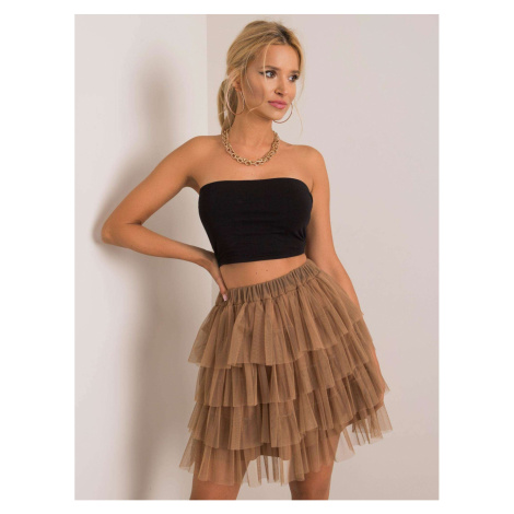 OH BELLA Camel tulle skirt Fashionhunters