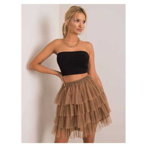 OH BELLA Camel tulle skirt