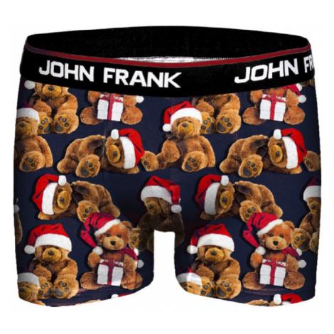 Pánské boxery John Frank JFBD08 Medvídek | černá