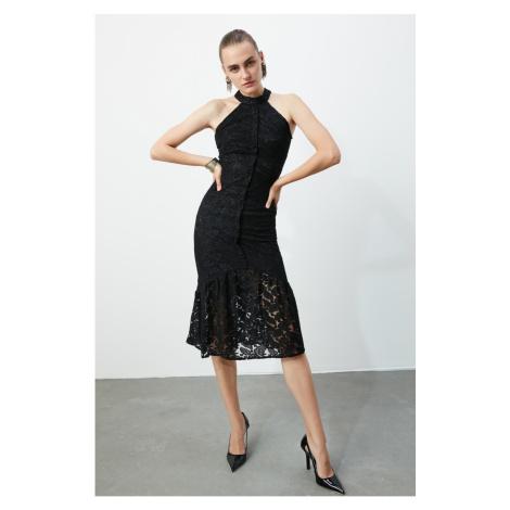 Trendyol Black Lace Dress