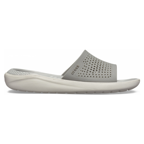 Crocs LiteRide Slide Smoke/Pearl White