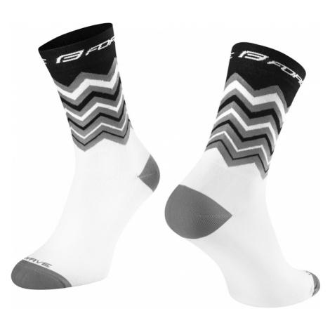 Cyklistické ponožky Force Wave černo-bílé