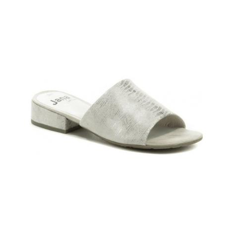 Jana 8-27260-24 světle šedé pantofle šíře H