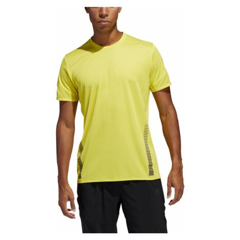 Pánské tričko adidas 25/7 Rise Up N Run Parley žluté