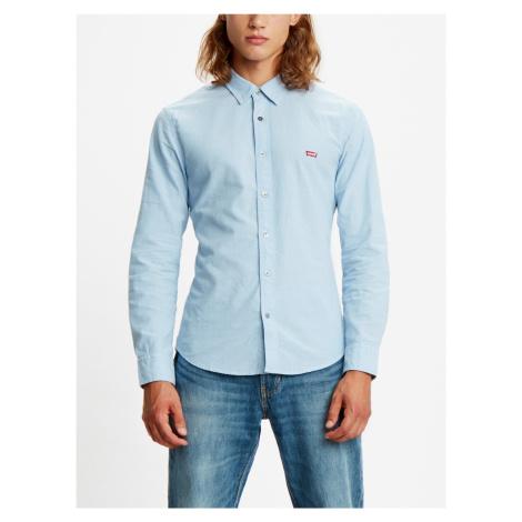 Košile Levi's® Ls Battery Hm Shirt Slim Allure Modrá