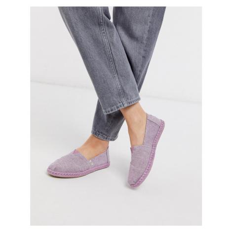 TOMS alpargata chambray espadrille in lilac-Purple
