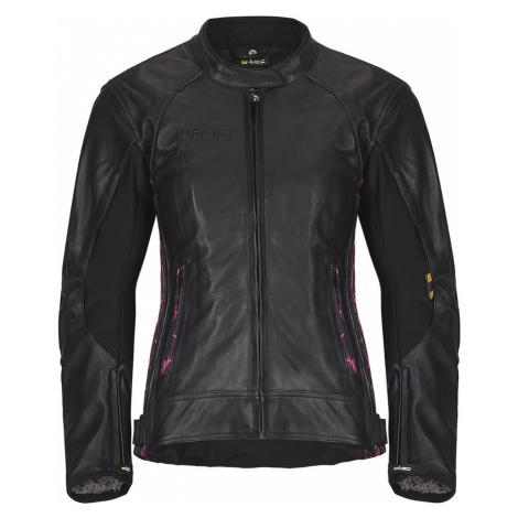 Dámská Kožená Moto Bunda W-Tec Caronina Nf-1174 Černo-Růžová