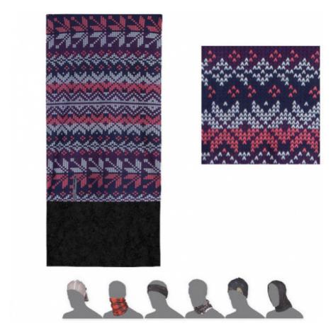 PATTERN FLAKES Multifunkční šátek s fleecem 16200174 fialová UNI Sensor