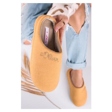 Žluté pantofle 5-27106 s.Oliver