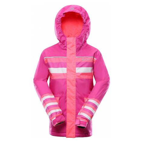 Dětská lyžařská bunda Alpine Pro INTKO 2 - růžová
