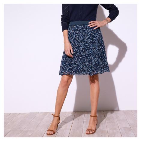 Blancheporte Krátká sukně s minimalistickým vzorem nám.modrá