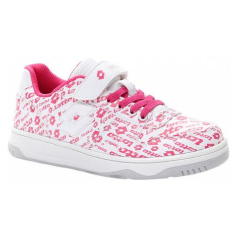 Lotto BASKETLOW AMF II LOGO CL SL bílá - Dívčí volnočasové boty