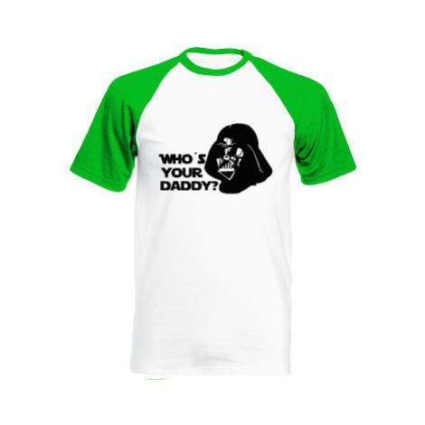 Pánské tričko Baseball Who is your daddy