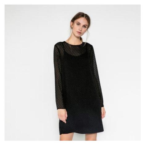 Černé dvouvrstvé šaty – Abelone Pieces