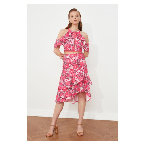 Trendyol Pink Ruffle Skirt