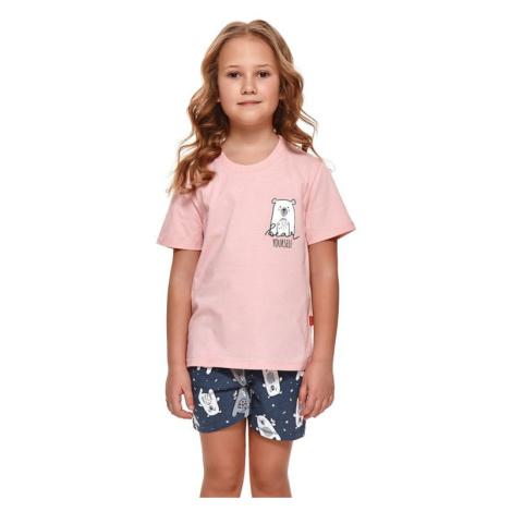 Dívčí pyžamo Bear růžové dn-nightwear