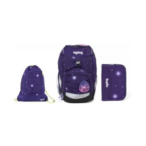 Školní set Ergobag prime Galaxy fialový 2020 - batoh + penál + sportovní pytel