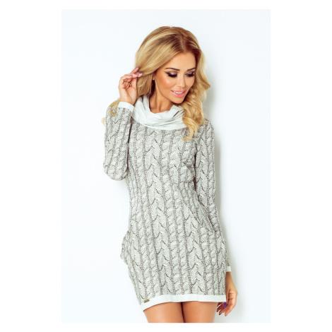 Dámské pletené šaty s rolákem a kapsami model 4976648 NUMOCO