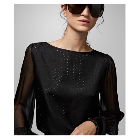 Košile Karl Lagerfeld Karl X Carine Silk Blouse - Černá