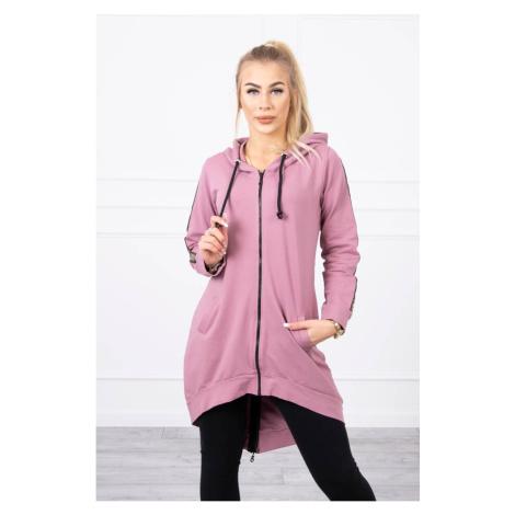 Sweatshirt with zip at the back dark pink Kesi