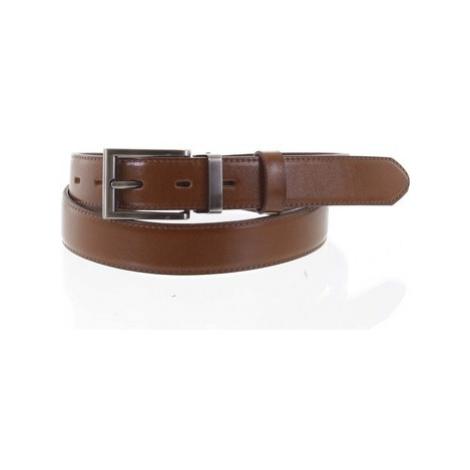 Penny Belts Pánský kožený opasek oblekový hnědý - PB Labim 95 Hnědá