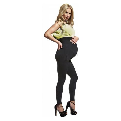 Těhotenské legíny Melanie 200 DEN černé Bas Bleu