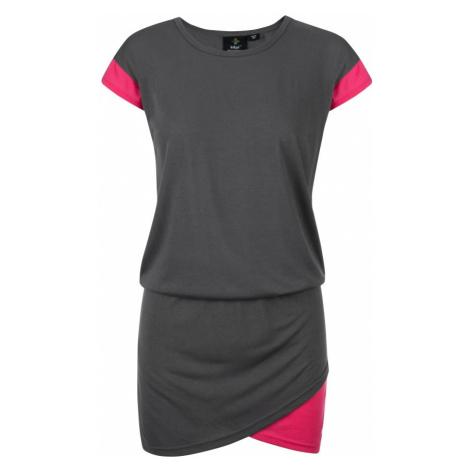 KILPI Dámské sportovní šaty LABATUT-W KL0157KIDGY Tmavě šedá