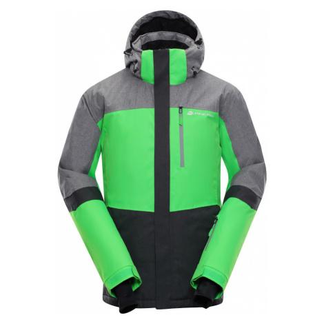 ALPINE PRO SARDAR 2 Pánská lyžařská bunda MJCM308563 Neon zelená