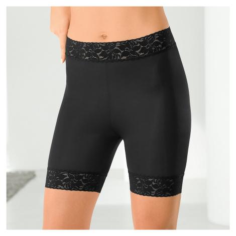 Blancheporte Krajkové kalhotky panty, stahující černá