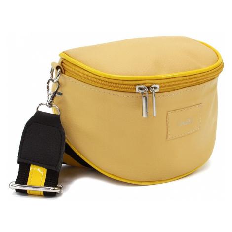 Žlutá dámská zipová kabelka - ledvinka Libby Arwena (PL)