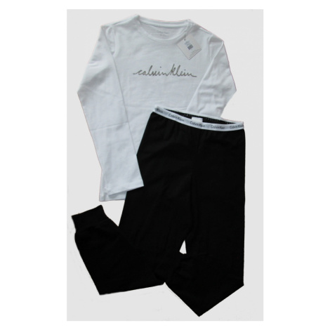 Dětské pyžamo Calvin Klein 800085 | bílá / černá