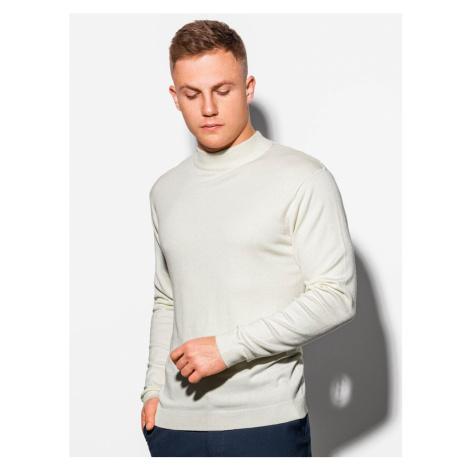 Ombre Clothing Jednoduchý svetr v ecru barvě E178
