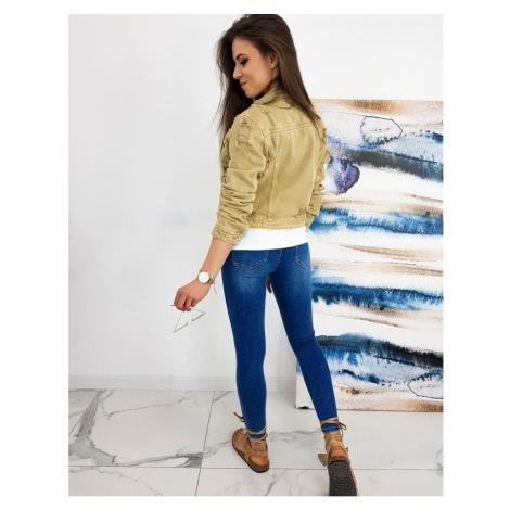BUENOS women's denim jacket beige TY1249 DStreet