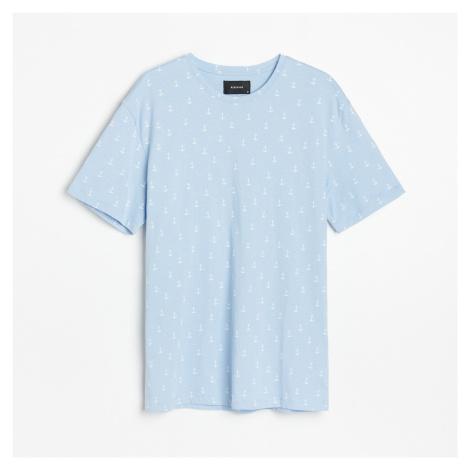Reserved - Tričko s kotvami - Modrá