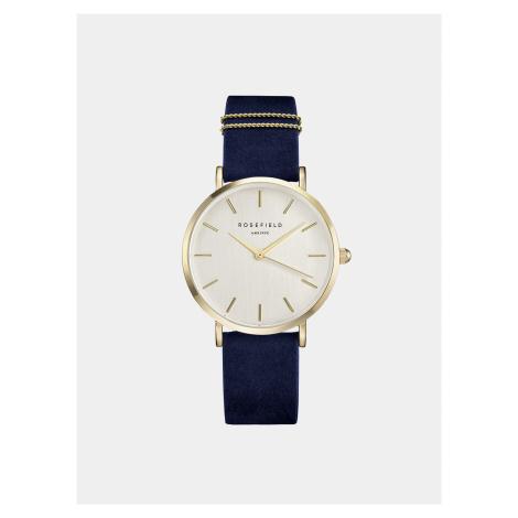 Dámské hodinky s modrým semišovým páskem Rosefield