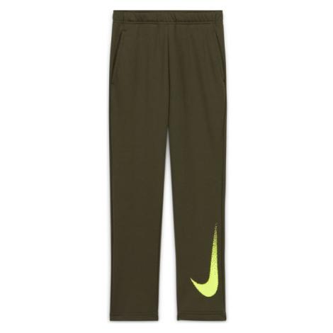 Nike DRY FLC PANT GFX2 B zelená - Chlapecké kalhoty