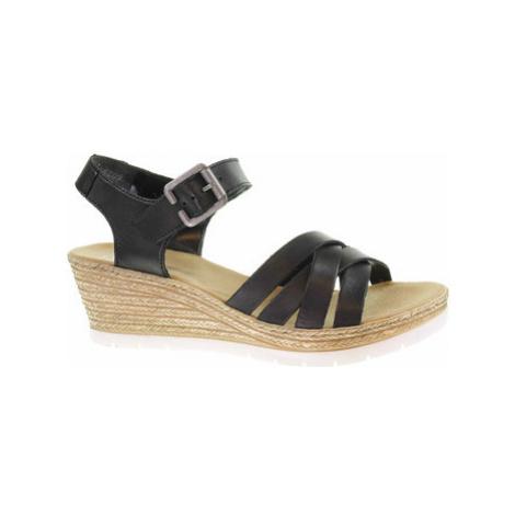 Rieker Dámské sandály 61963-00 schwarz Černá